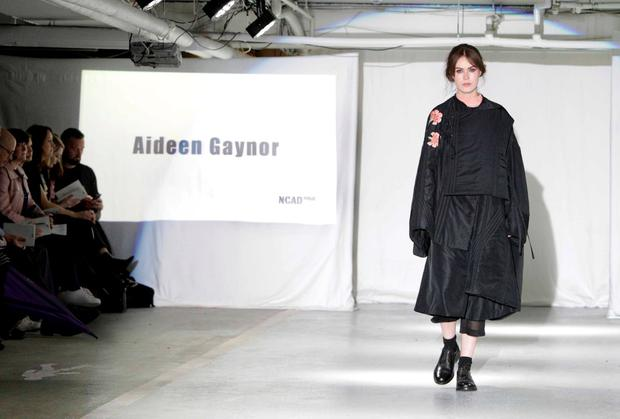 Pictured today at the annual NCAD fashion show is a modal walking the catwalk wearing the designs of overall winner Aideen Gaynor from Marino, Dublin.