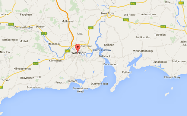 The incident occurred at Convent Hill in Waterford at around 6.15pm.
