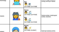 Google's proposed new emoji designs to better represent professional women. Photo: Google