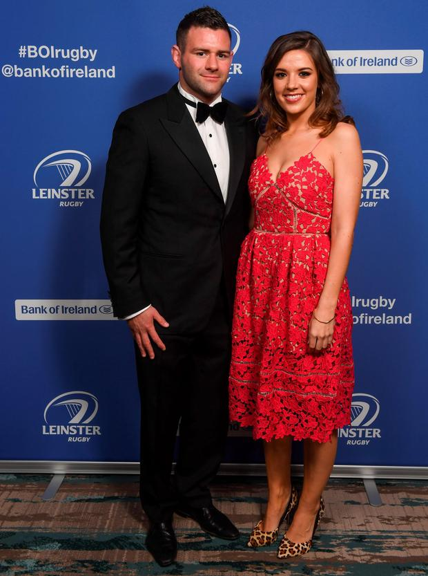 Fergus McFadden and Rebecca Sinnamon at the Leinster Ball. Picture: Sportsfile