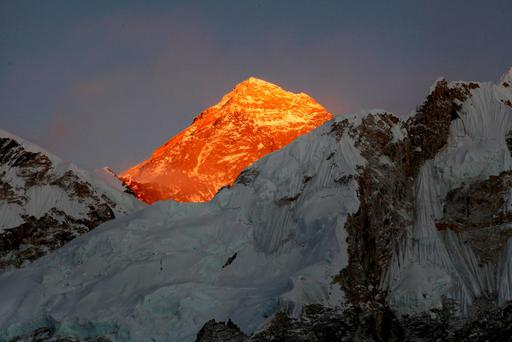 Mount Everest is seen from the way to Kalapatthar in Nepal. (AP Photo/Tashi Sherpa, file)