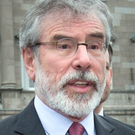 Gerry Adams says he will lead Sinn Fáin into the next election. Picture: Tony Gavin