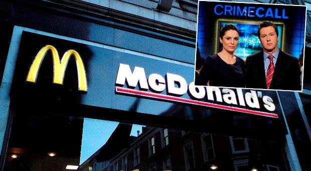 McDonald's on Grafton Street, inset Grainne Seoige and Philip Boucher Hayes present Crimecall