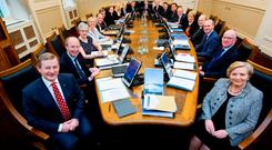 The new Cabinet, meeting for the first time in Government Buildings yesterday (Picture: Maxwells)