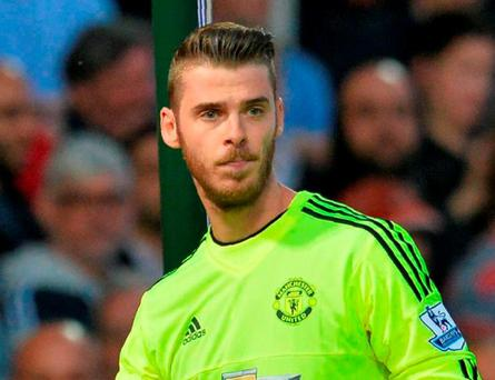 Manchester United goalkeeper David de Gea. Photo: Glyn Kirk/AFP/Getty Images