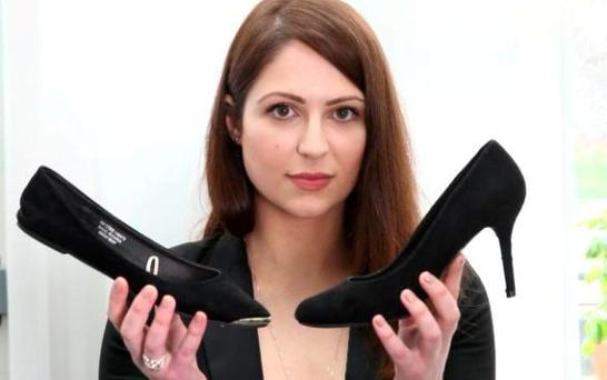 Nicola Thorp with her shoes