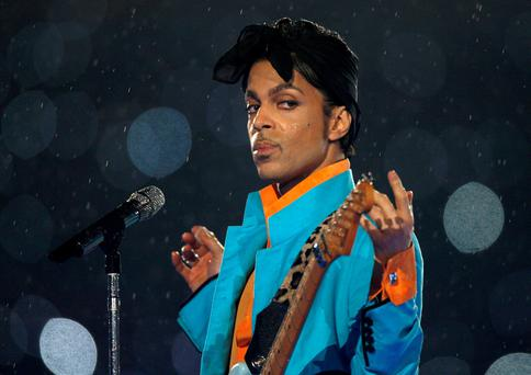 Prince performing at the US Super Bowl in 2007. Photo: Mike Blake/Reuters