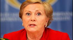 Justice Minister Frances Fitzgerald said her department was reviewing hate crime legislation. Presumably, this review will be quite short because, alone in the Western world, we don't have any Photo: Steve Humphreys