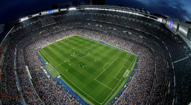 A general view of the Bernabeu, home to Real Madrid - the richest club in the world