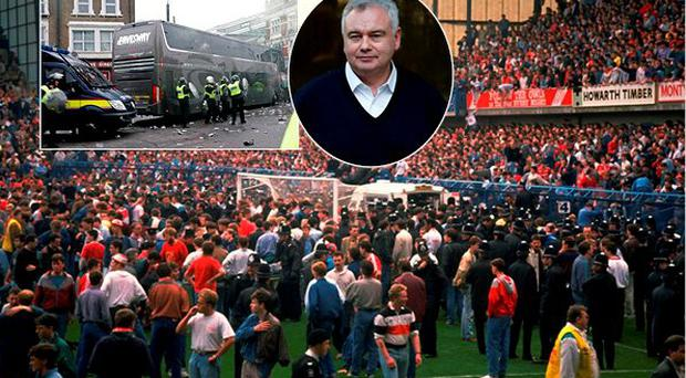 Eamonn Holmes has apologised for any offence caused for his comments about the attack on the Manchester United bus