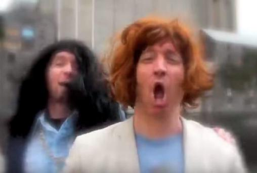 Dermot and Dave in their video for 'Touch Me'