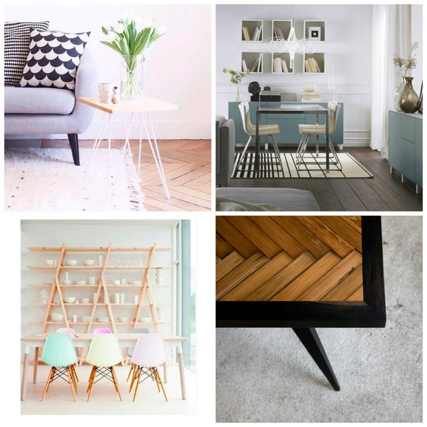 Top left to right; Made.com Instagram, Ikea, Cult Furniture, Seven Wood