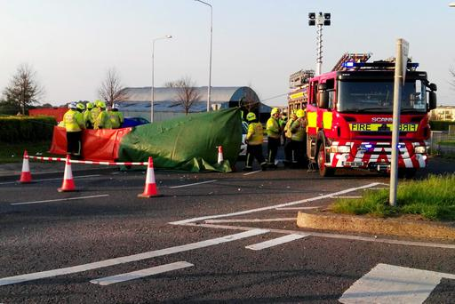 The scene of an accident at Charlesland, Greystones where a man was fatally injured.