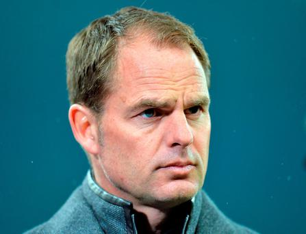 Frank de Boer. Photo: AFP/Getty