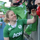 Ireland captain Niamh Briggs. Photo: Seb Daly/Sportsfile