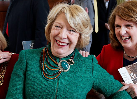 Sabina Higgins has intervened in the abortion debate. It has been claimed that as a 'private citizen' she has a right to do so. But if she was simply a 'private citizen', would she have been invited to address the various 1916 events? (Picture: Steve Humphreys)