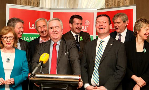 Willie Penrose, chairperson of the Parliamentary Labour Party, speaks at the publication of Labour's Water Fairness Bill 2016. Also in attendance were Jan O'Sullivan TD, Senators Denis Landy, Kevin Humphreys and Aodhán Ó Ríordán, and Alan Kelly TD, Brendan Ryan TD, and Senator Ivana Bacik. Photo: Tom Burke