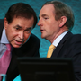 Alan Shatter and Enda Kenny Picture: Steve Humphreys