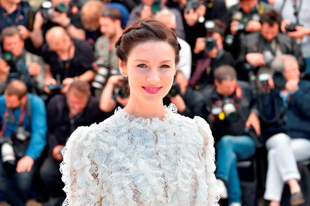 Irish actress Caitriona Balfe posing during a photocall for the film