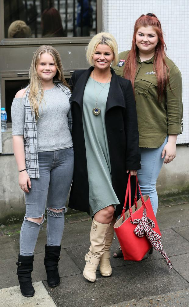 Kerry Katona with her daughters Molly and Lilly-Sue : Simon Earl / Splash News