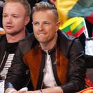 Nicky Byrne and team Ireland in the Green Room waiting for the result