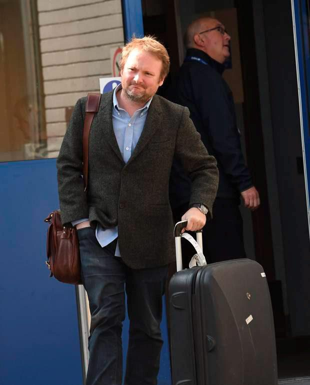 Rian Johnson (director ) pictured as Star Wars Cast Members arrive at Belfast International Airport on Friday Morning , They are due to film Star Wars Episode VIII at Malin Head in Co Donegal. Pic Colm Lenaghan/Pacemaker