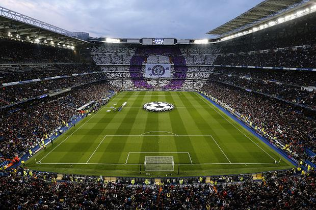 MADRID, SPAIN - APRIL 12: A general view prior to the UEFA Champions League quarter final second leg match between Real Madrid and VfL Wolfsburg at Estadio Santiago Bernabeu on April 12, 2016 in Madrid, Spain. (Photo by Antonio Villalba/Real Madrid via Getty Images)