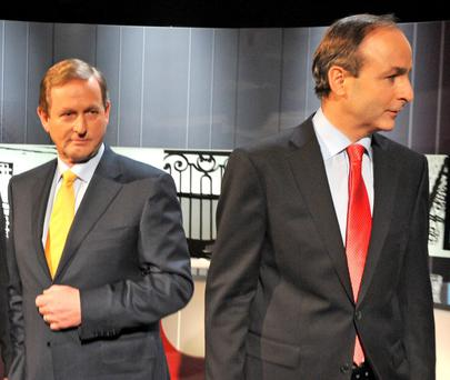 Micheál Martin (right) and Fianna Fáil deserve credit for playing a significant role in finding a solution to the impasse, leaving Enda Kenny (left) to get on with the job of respecting the voice of the voter. Photo credit: Barbara Lindberg.
