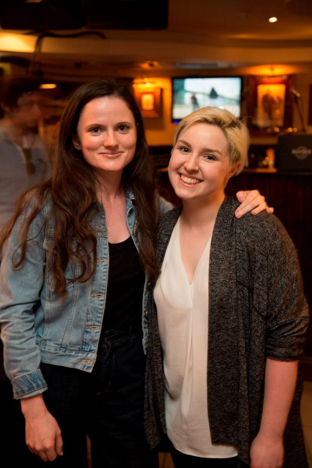 Clare O'Donnell and Becki Greene at the launch of charity album 'Rising Against Homelessness'