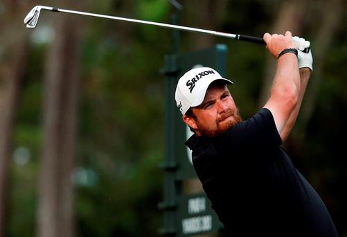 Shane Lowry hits his tee shot to the sixth hole during his second round at Sawgrass. Photo: Jason Getz/USA Today Sports