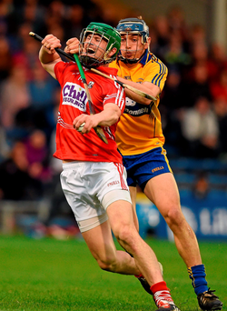 Even the best players like Cork's Séamus Harnedy, pictured here being tackled by Clare full-back Cian Dillon in last year's championship, will find it hard to break through massed defences (SPORTSFILE)