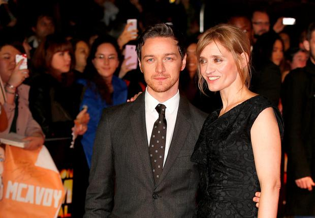 James McAvoy and wife Anne-Marie Duff attend the red carpet arrivals of
