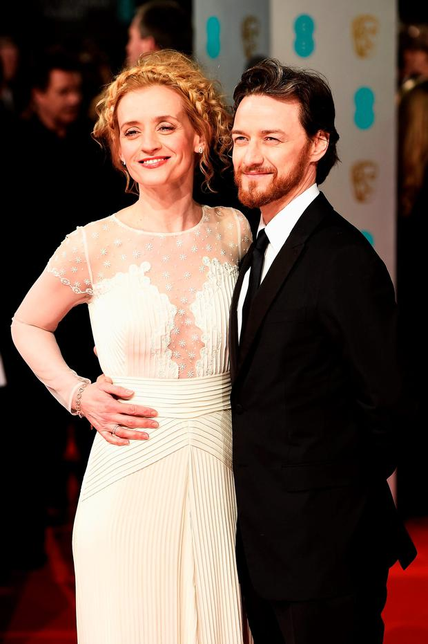 James McAvoy and Anne-Marie Duff attend the EE British Academy Film Awards at The Royal Opera House on February 8, 2015 in London, England. (Photo by Ian Gavan/Getty Images)