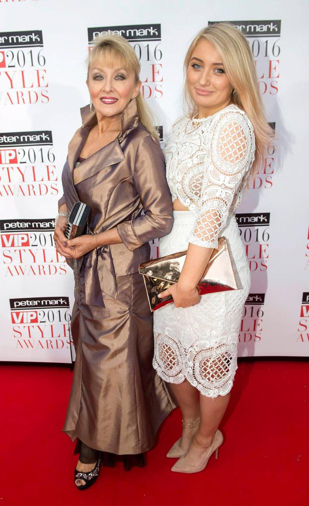 Adele King and daughter Naoimi Agnew at The Marker Hotel for the VIP Style Awards 2016