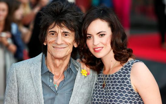 Ronnie Wood and wife Sally Wood