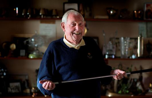 SPORTING HERO: Christy O'Connor Senior pictured in 2014 for a Sunday Independent interview. Photo: David Conachy