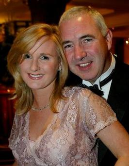 LUXURY: Sean and Gayle Dunne, who were married on board the legendary yacht, the Christina O