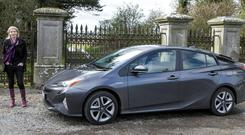 Game-changer: Geraldine and the new Prius, which is still leading the Hybrid scene
