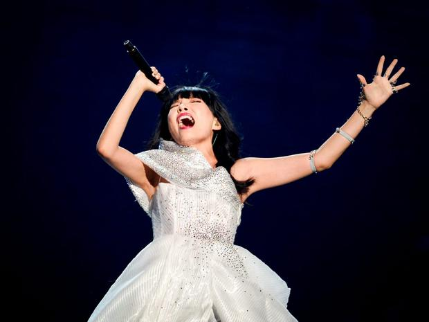 Dami Im representing Australia performs with the song