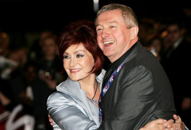 Sharon Osbourne (L) with Louis walsh arrive at the BRIT Awards 2007 in association with MasterCard at Earls Court on February 14, 2007 in London. (Photo by Gareth Cattermole/Getty Images)