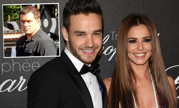 Liam Payne and Cheryl and (inset) is Irish bodyguard Patrick O'Brien