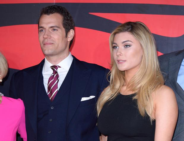 Henry Cavill and Tara King arrive for the European Premiere of 'Batman V Superman: Dawn Of Justice' at Odeon Leicester Square on March 22, 2016 in London, England. (Photo by Karwai Tang/WireImage)