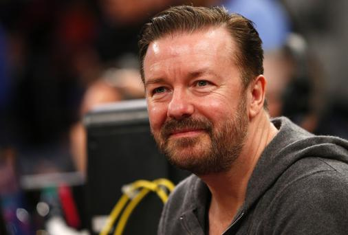 British actor/comedian Ricky Gervais has called on the State to ban the export of Irish greyhounds to China. (Photo by Rich Schultz /Getty Images)