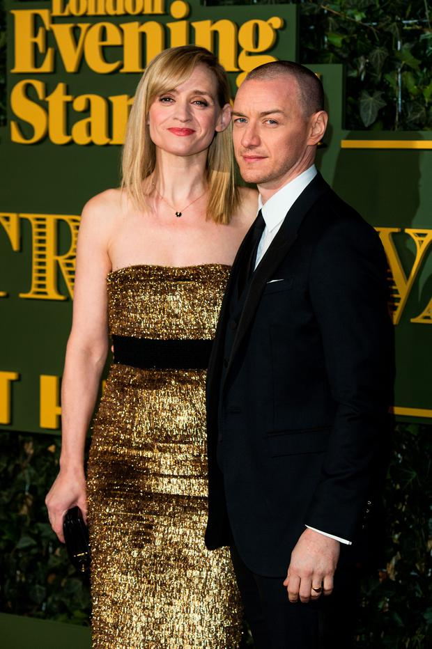 Anne-Marie Duff and James McAvoy attend the Evening Standard Theatre Awards at The Old Vic Theatre on November 22, 2015 in London, England. (Photo by Jeff Spicer/Getty Images)