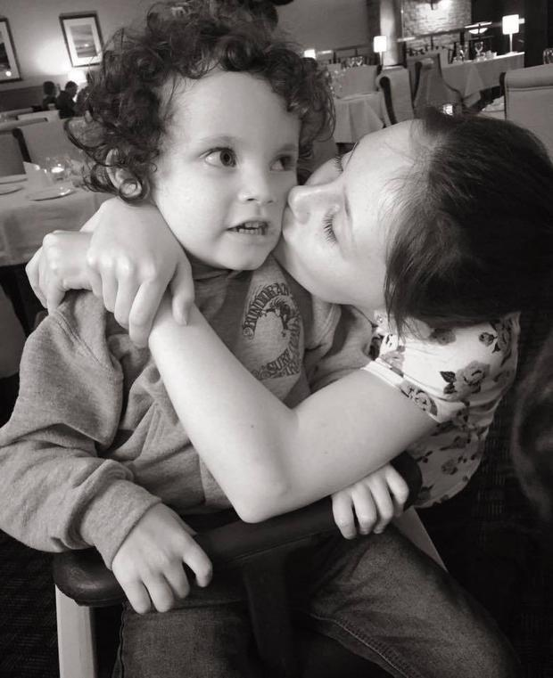 Rory with his sister Lily (11). Photo: Shauna Gallagher