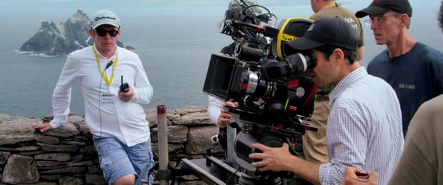The Star Wars crew filming on the island