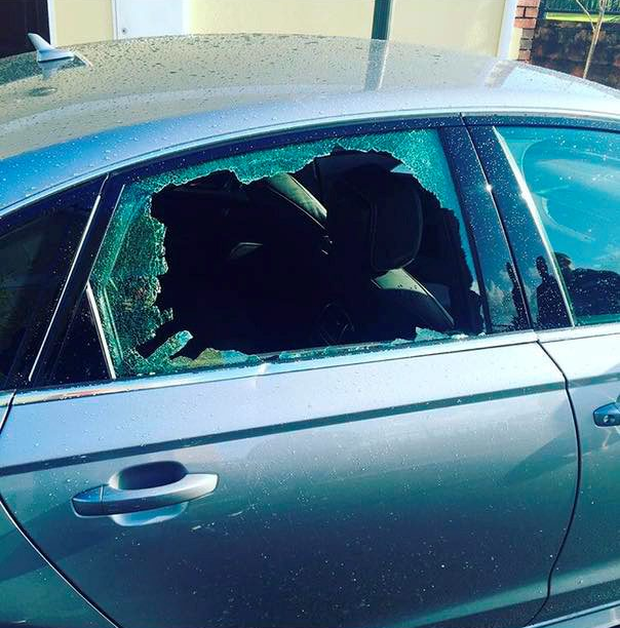 Robbie Henshaw's laptop was taken from his car after the window was smashed
