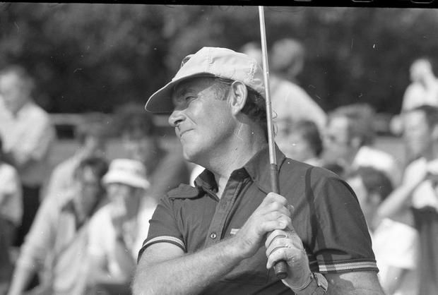 Christy O'Connor Snr playing in the Irish Open in 1976. Photo: NPA/Independent Archive