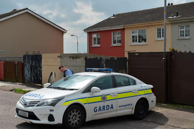 Gardaí at the scene. Photo: Michael Mac Sweeney