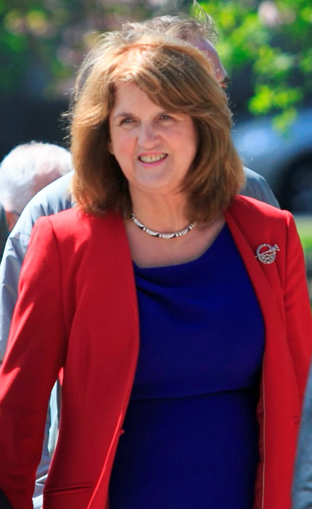 Joan Burton: 'leadership rules are very clear'. Photo: Gareth Chaney Collins